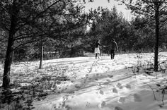 Meghan + Joseph  2-9-15  Winter Wedding.  Taking a walk to pick dried flowers and what-not for the bouquet <3