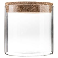 Wide Glass Cylinder Jar with Cork Lid