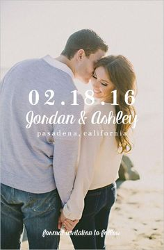 Classic Photo Elegant Minimal Save The Date by PaperPlumCo