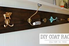 What a fun idea!! A DIY Custom Coat Rack. So easy and a little fun, unique, and funky! Tutorial via View From The Fridge