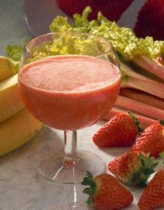 Rhabarber-Erdbeersaft Rezept
