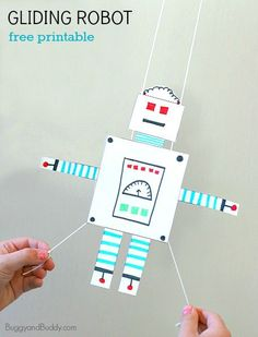 Robot Craft for Kids: Free Printable Gliding Robot~ BuggyandBuddy.com
