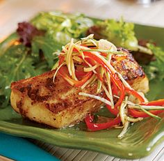 Chinese five-spice halibut with pickled ginger