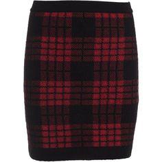 Plaid High Waist Skirt ($495) ❤ liked on Polyvore featuring skirts, high waisted plaid skirt, high rise skirts, elastic waistband skirt, balmain and elastic waist skirt