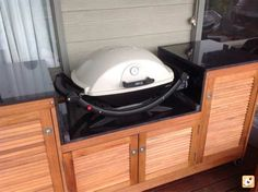built in baby q weber cupboard - Google Search