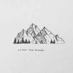 This One Drawings Pinterest Art Drawings And Mountain