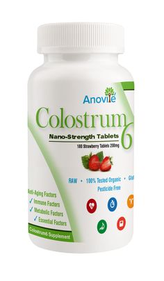 Colostrum 6 Chewable Strawberry Tablets