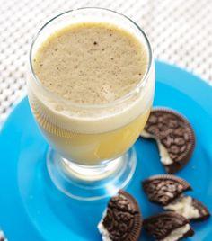 Malteada de helado de vainilla y galletas de chocolate... ¡Mmmm!