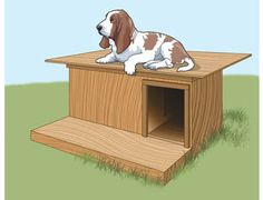 Easy Mutt Mansion - Simple affordable plans for a 2-room doghouse with porch