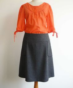sewing a skirt | CurlyPops: The Make It In May Skirt Sew-Along - Here's mine!
