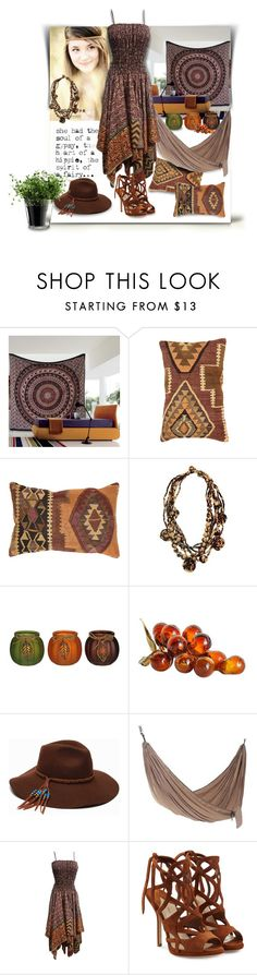 """""""Sould of a gypsy, heart of a hippie and spirit of a fairy."""" by newsjoan ❤ liked on Polyvore featuring WALL, NOVICA, ále by Alessandra, Paul Andrew and LSA International"""