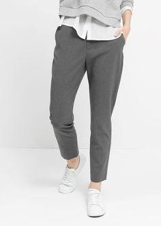 mango Костюмные брюки из саржи