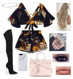 """Out and About"" by zi-and-astro ❤ liked on Polyvore featuring Casadei, Yves Saint Laurent and Alex and Ani"