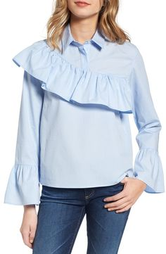 Sincerely Jules Asymmetrical Ruffle Blouse