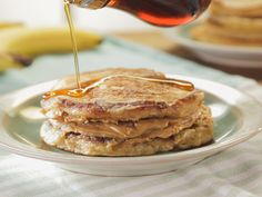 Banana Pancake Sandwich and Peanut Butter Maple Spread recipe from Trisha Yearwood via Food Network
