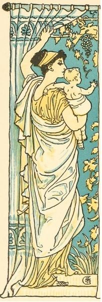 Walter Crane Illustration for The baby's own Aesop (1908)