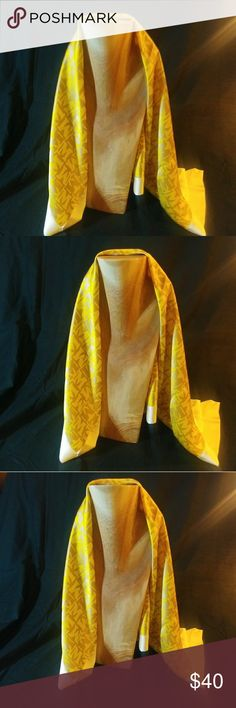 "Missoni Silk Scarf 29""x 29"" Gold and cream 100% silk Missoni scarf Missoni Accessories Scarves & Wraps"