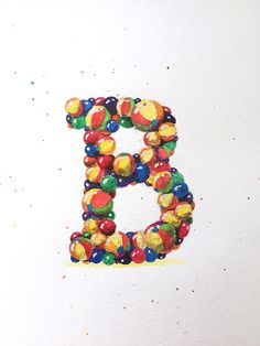 "Accidental-Typographer — ""B""  Handwritten typography 10.16.15 #IsForBalls..."