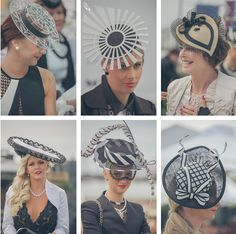 trends 2014 - spring racing fashion - racingfashion in melbourne Derby Day Fashion, Races Fashion, Fashion Fashion, Fascinator Hats, Fascinators, Royal Ascot Hats, Fraternity Collection, Race Wear, Crazy Hats