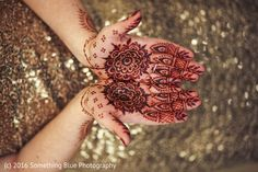 Simple bridal henna palms for a Pakistani fusion wedding.