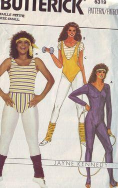 Butterick 6319 Misses Full Bodysuit Top And Briefs Pattern Jayne Kennedy Vintage Sewing Pattern Size Xl Or Medium - Dance Leotards 80s Workout, Workout Wear, 90s Workout Clothes, Workouts, Workout Bodysuit, Retro Fitness, Dance Leotards, Unitard Dance, Kids Leotards