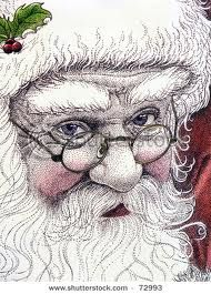 This Santa print would be fun to turn into a watercolor painting for Christmas, maybe one of these days I will have a little time to start painting again... holiday, watercolor paintings, christmas decorations