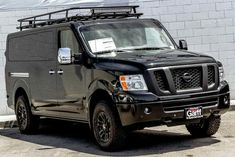 Nissan NV with Aluminess roof rack #survivalvan
