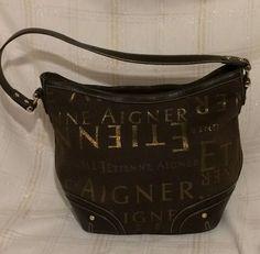 Details about Vintage Etienne Aigner Taupe Light Brown Leather Purse  Shoulder Bag Tote 776b09195292f