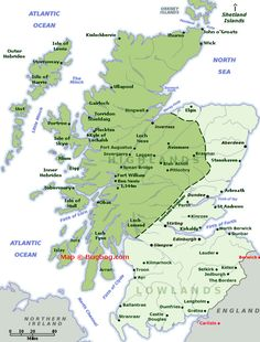 Scotland Map with tourist destinations linking to Scotland Pictures.