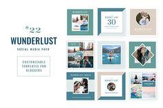 WUNDERLUST   Social Media Pack @creativework247