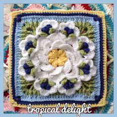 Tropical Delight crochet square