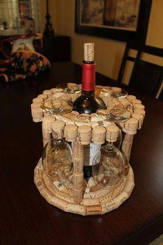 Wine Craft, Wine Cork Crafts, Wine Bottle Crafts, Wine Cork Projects, Diy Craft Projects, Diy Crafts, Beach Crafts, Recycled Crafts, Fall Crafts