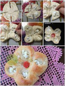 λουλουδια απο ζυμάρι Pie, Desserts, Food, Torte, Tailgate Desserts, Cake, Deserts, Fruit Cakes, Essen