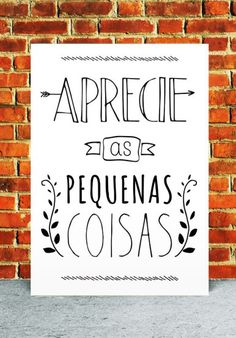 freebie - free printable - gratis - poster - quadrinho - wall art - aprecie as… Lettering Tutorial, Lettering Brush, Drawing Letters, Letter E, Motivational Phrases, Calligraphy Letters, Typography, Bullet Journal, Let It Be
