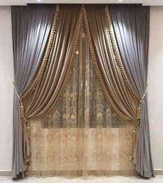 Classic Curtains Modern Curtains Elegant Curtains White Curtains Diy Curtains Curtains With Blinds Window Curtains Curtain Designs For Bedroom Home Theater Curtains Bedroom Curtains With Blinds, Living Room Decor Curtains, Luxury Curtains, Drapes Curtains, Lounge Curtains, Bedroom Ceiling, Velvet Curtains, Drapery, Luxury Bedding