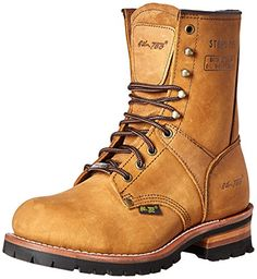 AdTec Mens 9 Inch Steel Toe Logger Boot Brown 8 M US *** You can get additional details at the image link.
