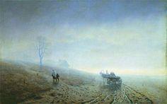 Autumn thaw. 1872.Kuindzhi Antropov
