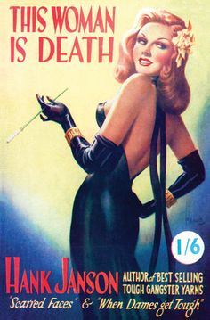 """Reginald Heade AKA Reginald Cyril Webb was probably the best British """"girlie"""" paperback cover artist of the 1950s. Born 1901 in London and died in 1957. Heade produced over 300 covers for the Hank Janson series of paperback """"hard-boiled"""" thrillers for the author/publisher, Stephen Frances."""