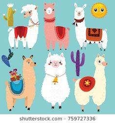 Photo May 05 2019 at Lamas maniacs Alpacas, Cartoon Llama, Alpaca Cartoon, Llamas Animal, Llama Face, Llama Arts, Cute Llama, Cartoon Network, Cartoon Drawings