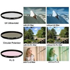 58mm Multi-Coated 3 Piece Filter Kit (UV-CPL-FLD) For The Canon Digital EOS Rebel T4i, T3i, T3, T1i, T2i, 60D, EOS 5D Mark III Digital SLR Cameras Which Use Any Of These (18-55mm, 75-300mm, 50mm 1.4 , 55-200, 55-250mm) Lenses