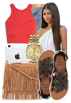 """."" by ray-royals ❤ liked on Polyvore featuring NIKE, Coleman, Rolex, Rebecca Minkoff and Billabong"