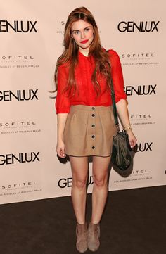 Holland Roden - Riviera Bar Opening At Sofitel LA Lydia Martin Outfits, Lydia Martin Style, Scott Mccall, Teen Wolf Outfits, Look Fashion, Fashion Outfits, Types Of Skirts, Couture, Her Style