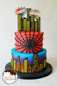 Spiderman Cake Spiderman Cake Topper, Spiderman Birthday Cake, Beautiful Birthday Cakes, Beautiful Cakes, Character Cakes, Just Cakes, Cake Cookies, Cake Toppers, Fondant