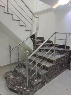 Steel Railing Design, Staircase Railing Design, Balcony Railing Design, Home Stairs Design, House Design, Front Gate Design, Door Gate Design, Stainless Steel Stair Railing, Window Grill Design Modern
