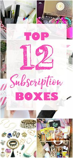 Top 12 Subscription Boxes from CrateJoy for Women - coming monthly everything from clothing, beauty, makeup, pets toys and treats, jewelry, meal planning recipes