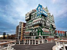 Inntel Hotel Amsterdam Zaandam, the Netherlands (Designed by WAM architecten) - GPS: 52.438108, 4.815894
