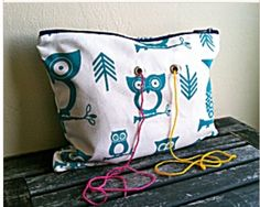 Cute yarn and project bag.  Easy to make and not expensive to buy also.