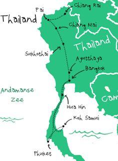 Onze backpack route door Thailand!