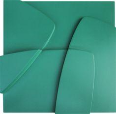 Delsy Rubio | Armonía | Serie: Loto | 35 x 35 x 8 cm | Acrílico/madera | 2014
