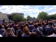 Rebecca Corry's Pibble March speech filmed by @instagrampitbulls